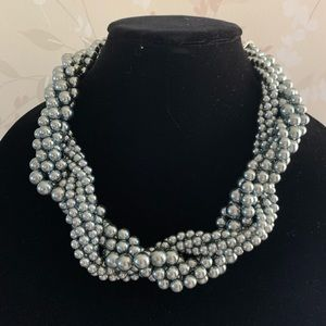 Talbots Twisted Pearl Necklace
